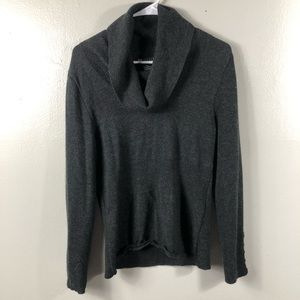 100% Wool Dark Gray Cowl Neck Sweater Size XL